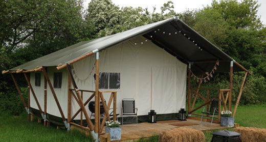 Safari tent accommodation Kent